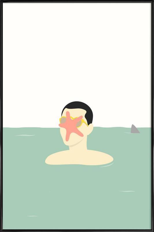 En Smuk Dag Paa Havet Framed Poster