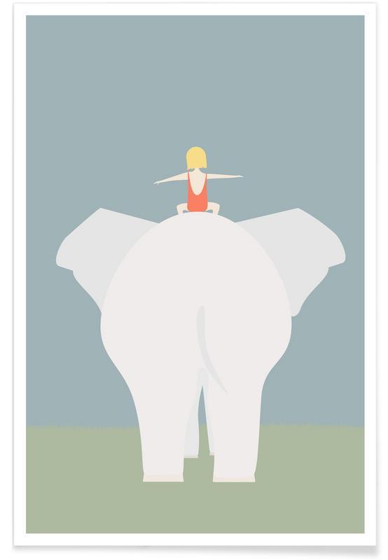 Den Lille Pige Og Elefanten Poster