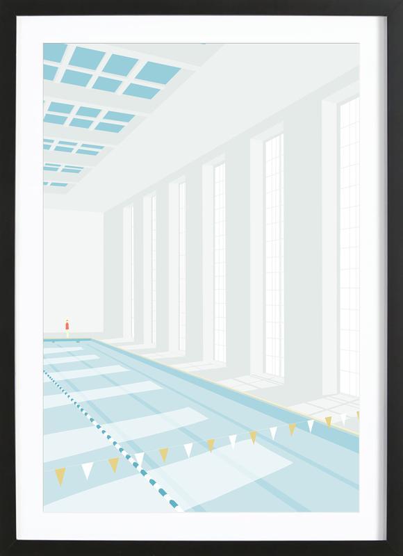 Svømmehal Framed Print