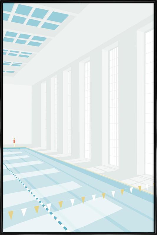 Svømmehal -Bild mit Kunststoffrahmen