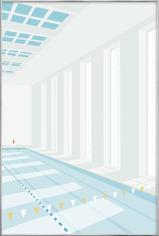 Svømmehal -Poster im Alurahmen