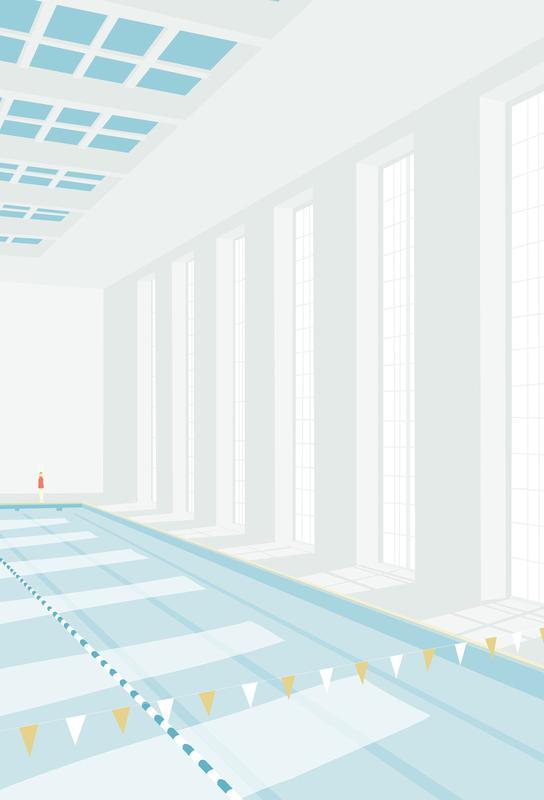 Svømmehal -Acrylglasbild