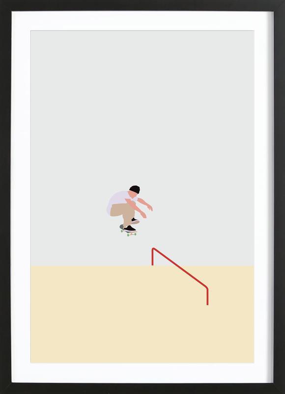 Skateboarding Premium Poster gerahmt | Dekoration > Bilder und Rahmen > Poster | Mehrfarbig