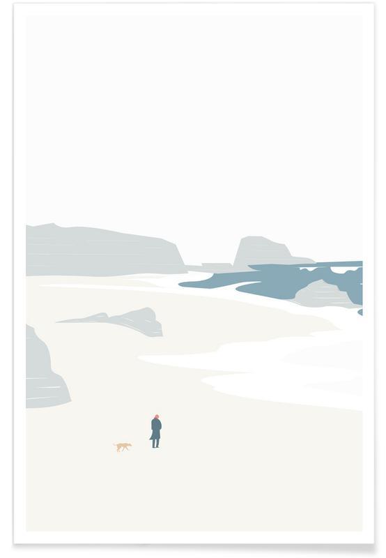 Gå På Stranden Poster