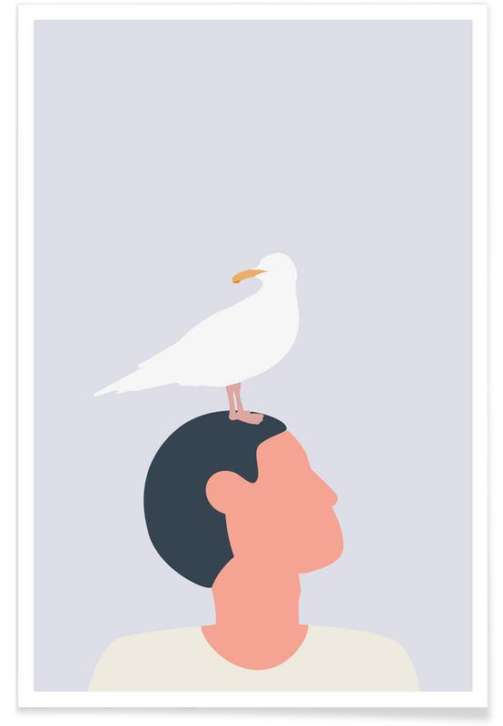 Mågefugle Poster