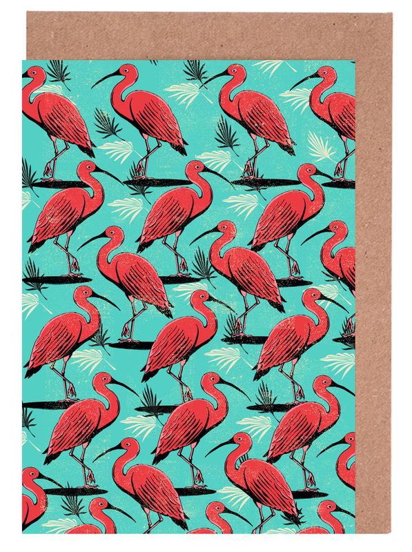 Scarlet Ibis Greeting Card Set
