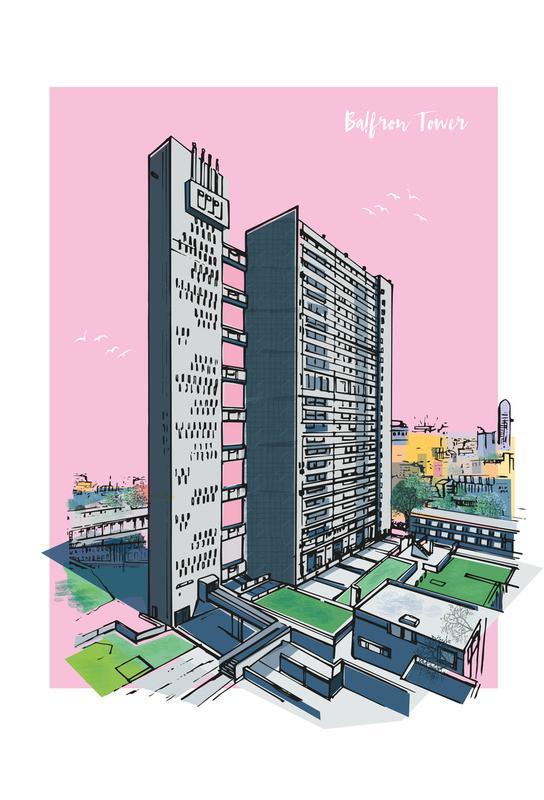 Balfron Tower acrylglas print