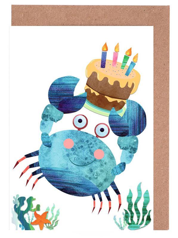 Crab Greeting Card Set