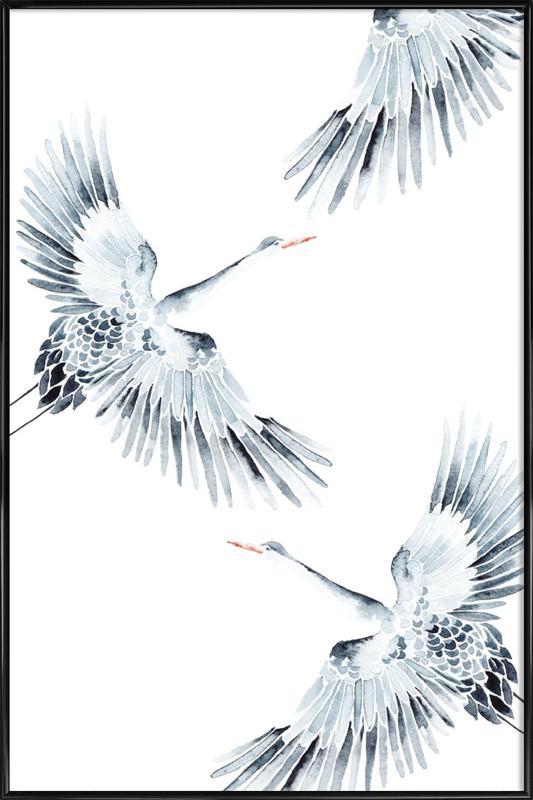 Cranes Framed Poster
