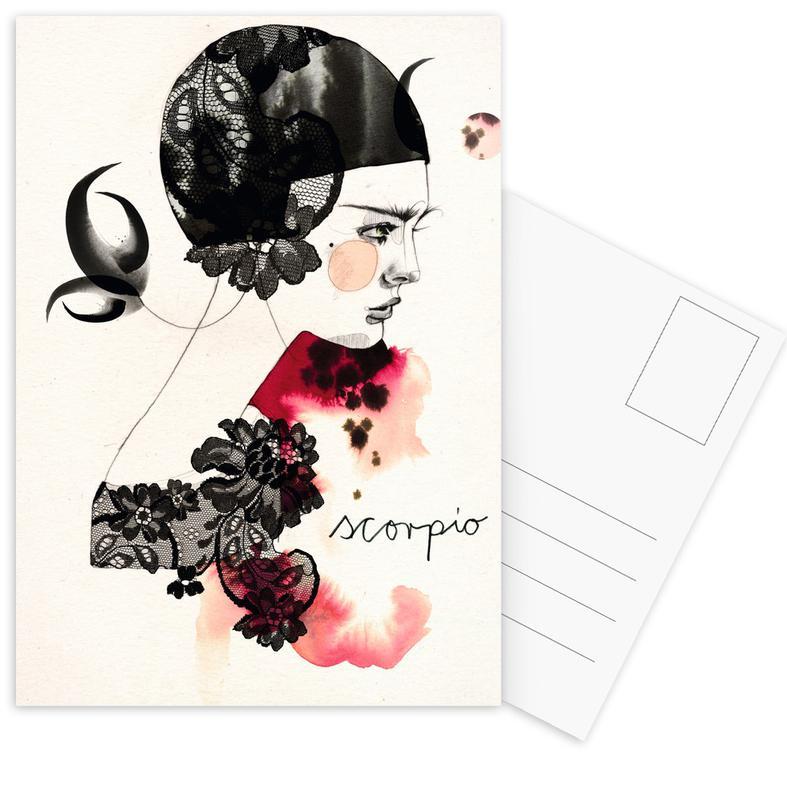 Skorpion Postkartenset | Dekoration > Accessoires | Mehrfarbig