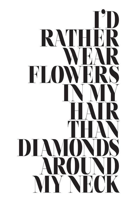 I´d Rather Wear Flowers Alu Dibond Druck