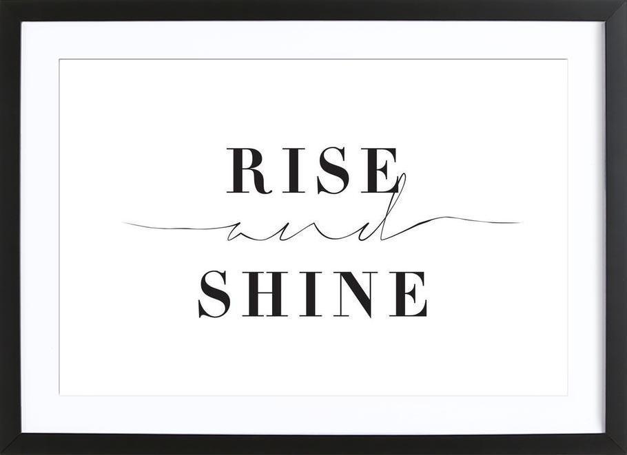 Rise and Shine affiche sous cadre en bois