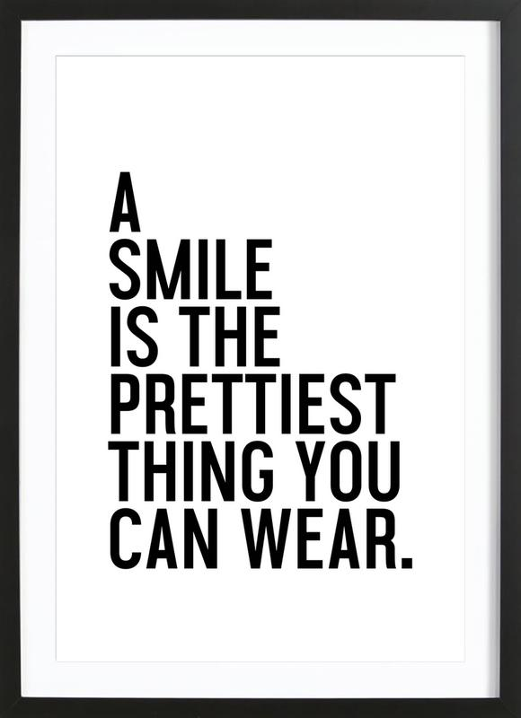 A Smile Is The Prettiest -Bild mit Holzrahmen