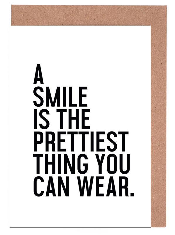 A Smile Is The Prettiest Grußkartenset