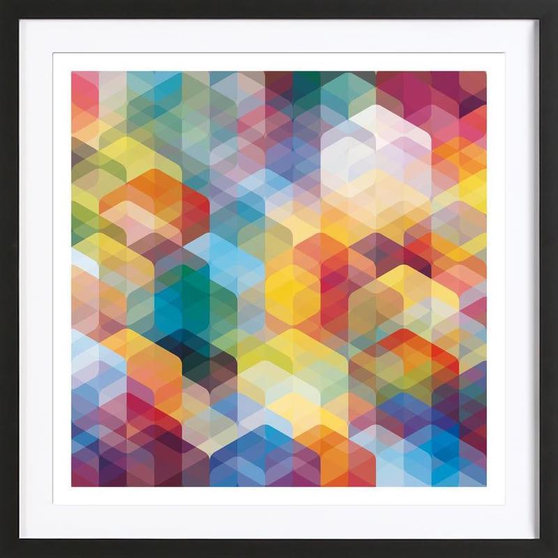 Cuben Curved #2 Framed Print