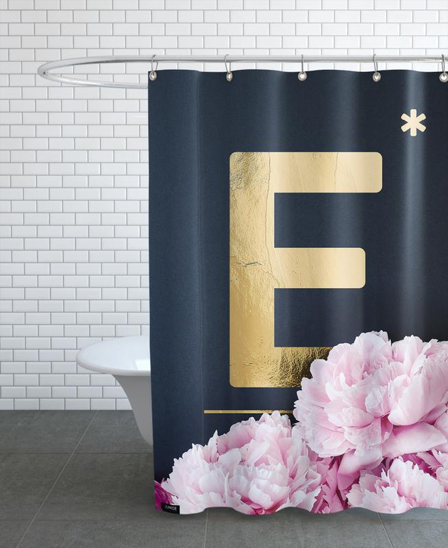 Flower Alphabet E Shower Curtain