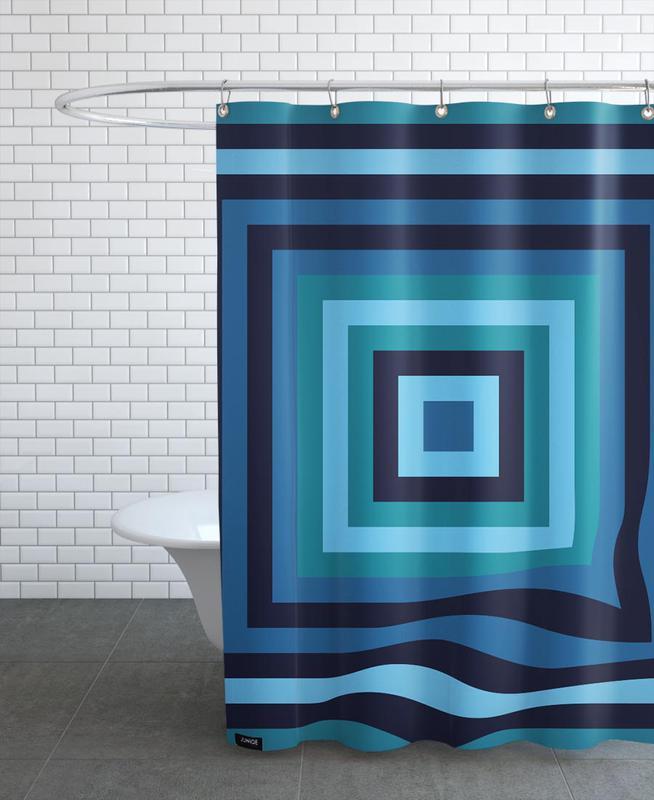 Blue Ripple Duschvorhang | Bad > Duschen > Duschvorhänge | Mehrfarbig | Polyester