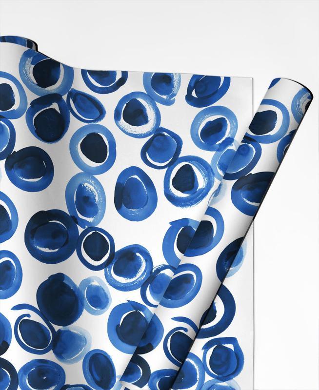 Blue Pebble Gift Wrap