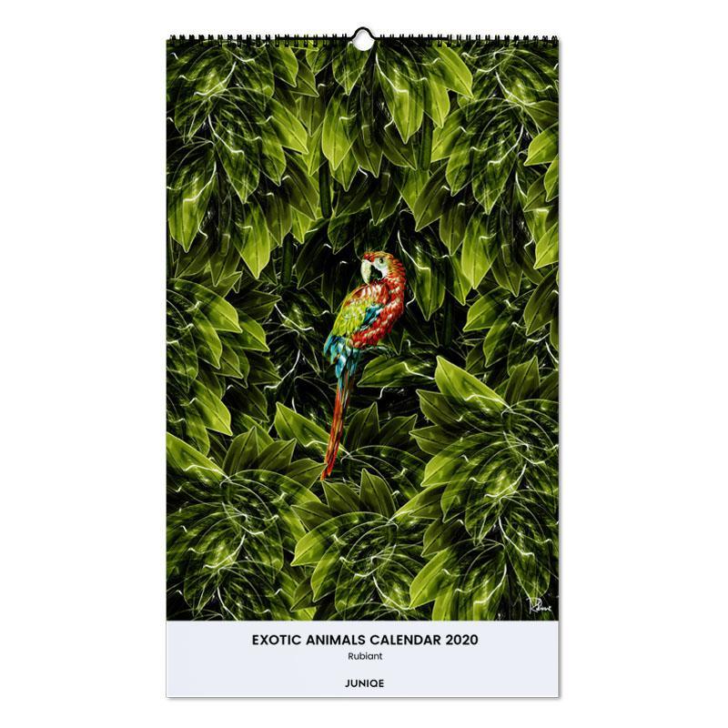 Exotic Animals Calendar 2020 - Rubiant Wall Calendar