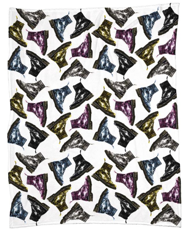 Whats Up Dog Pattern 1 Fleecedecke | Heimtextilien > Decken und Kissen > Mehr-Decken | Mehrfarbig