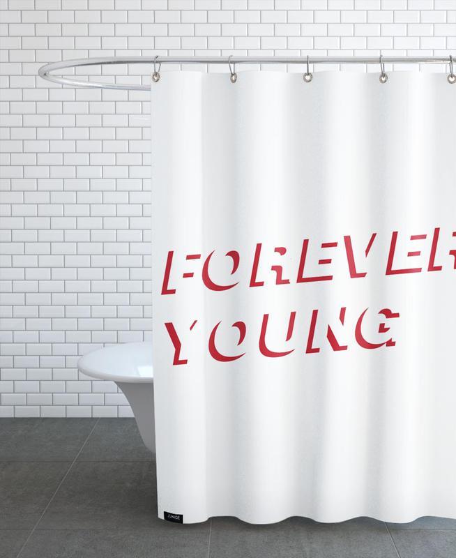 Forever Young White Duschvorhang | Bad > Duschen > Duschvorhänge | Mehrfarbig | Polyester