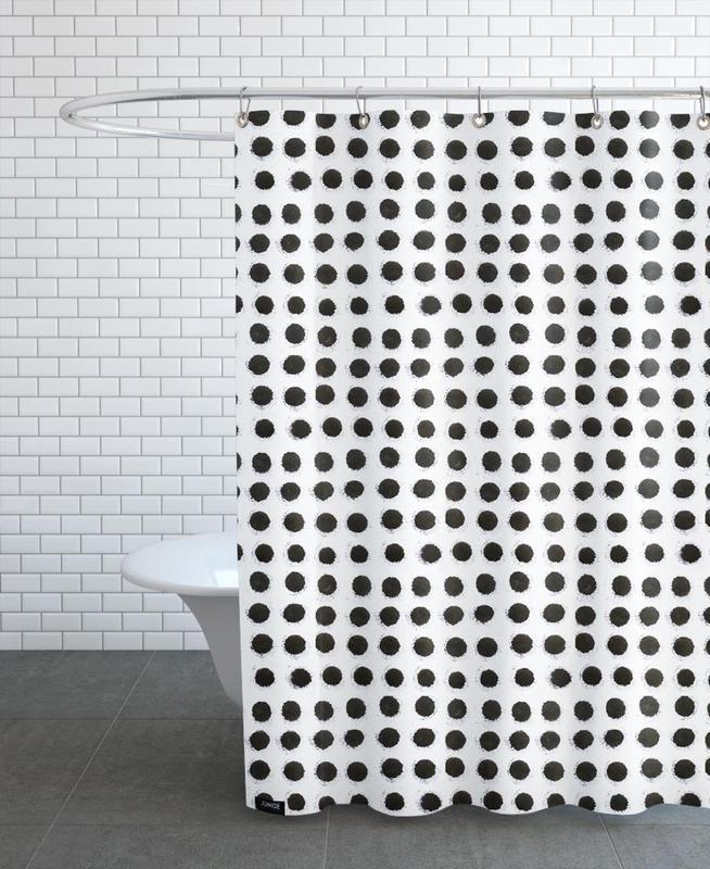 Ink Dots -Duschvorhang