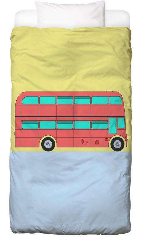 London Bus Tour Kinderbettwäsche