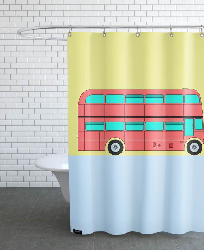 London Bus Tour Duschvorhang