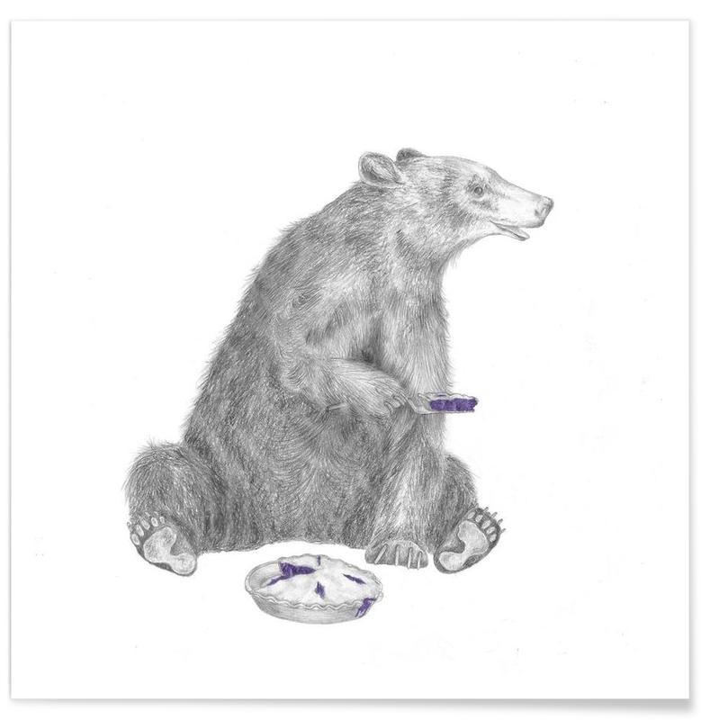 Bear Drawing Poster