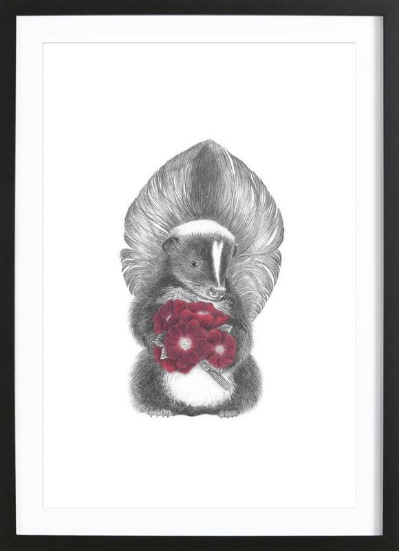 Scruffles Wigglebottom Skunk Framed Print