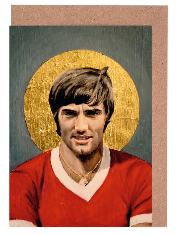 Football Icon - George Best Greeting Card Set