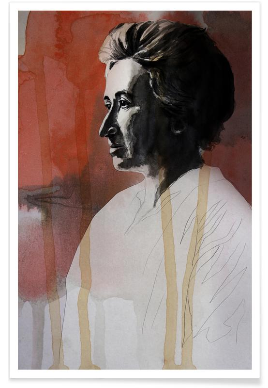 Rosa Luxemburg Painting Poster