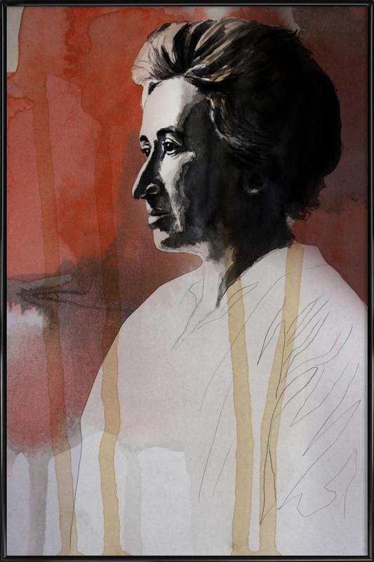 Rosa Luxemburg -Bild mit Kunststoffrahmen