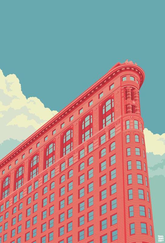 Flatiron Building New York City acrylglas print