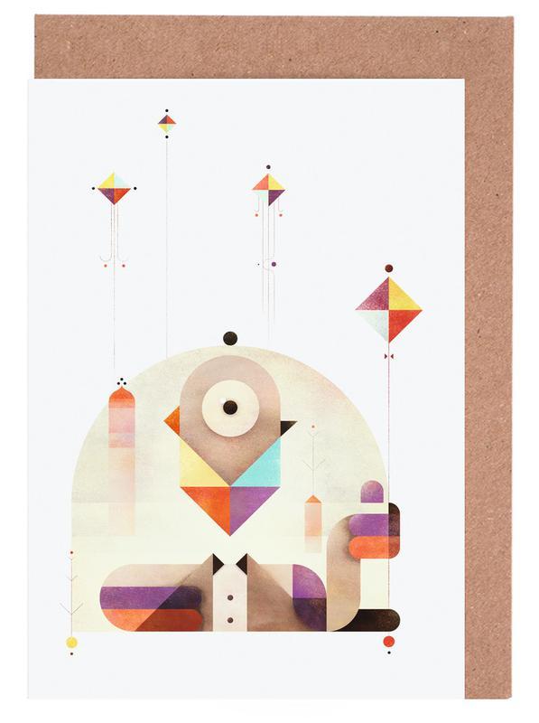 Kite Master -Grußkarten-Set