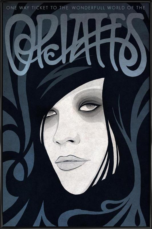 Opiates ingelijste poster