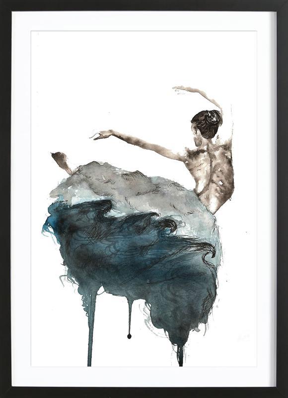 Ballerina -Bild mit Holzrahmen