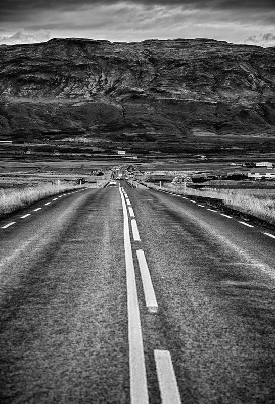 Road to the Mountains Aluminium Print