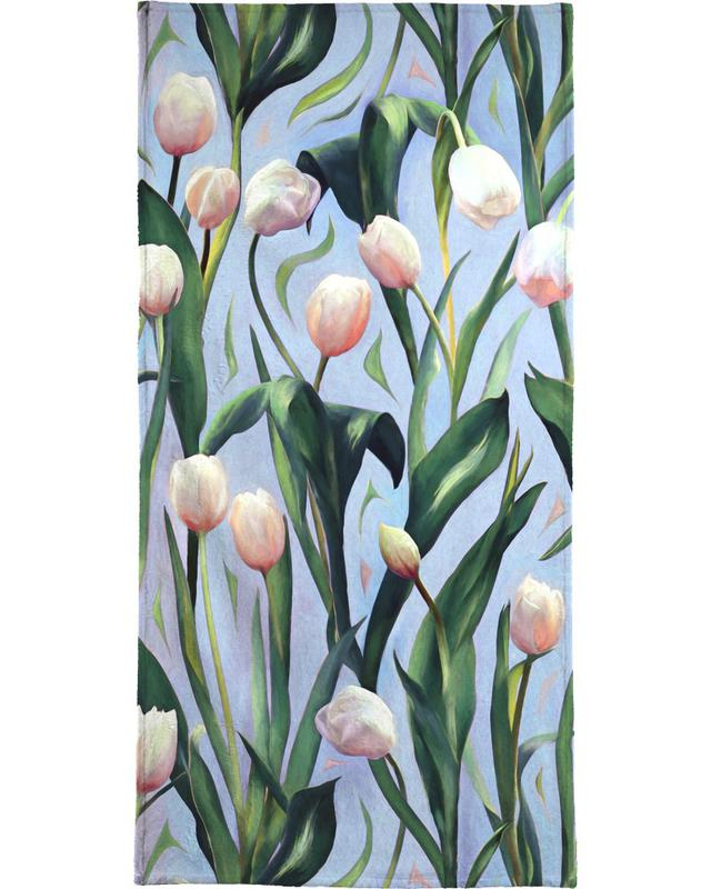 Waiting On The Blooming – Tulip Pattern Bath Towel