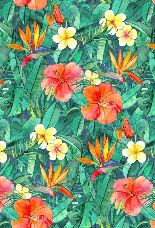 Classic Tropical Garden -Acrylglasbild