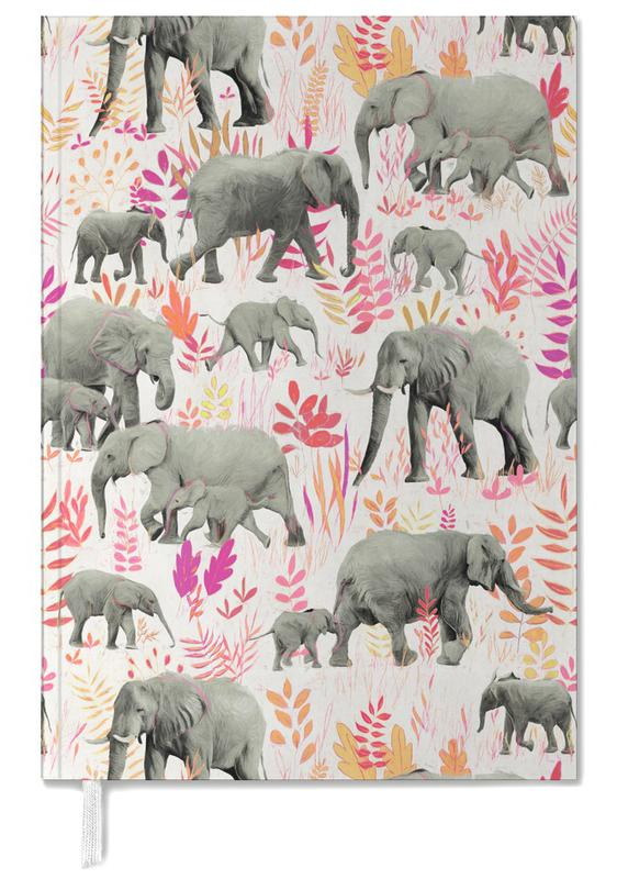 Sweet Elephants in Pink Orange -Terminplaner