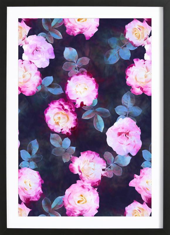 Twilight Roses -Bild mit Holzrahmen