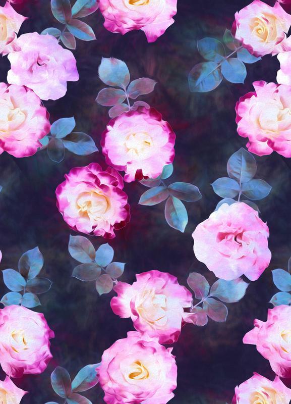 Twilight Roses Leinwandbild | Dekoration > Bilder und Rahmen > Bilder | Mehrfarbig | Holz