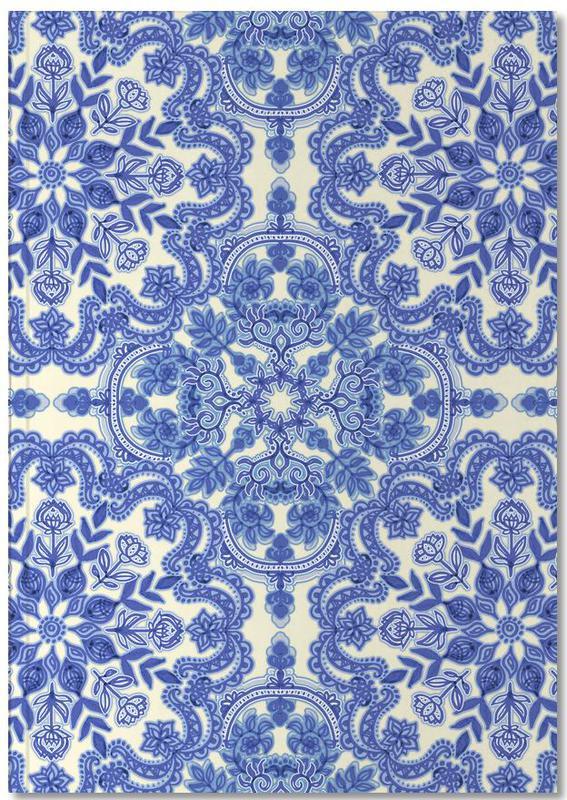 Blue & White Folk Art Pattern Notebook