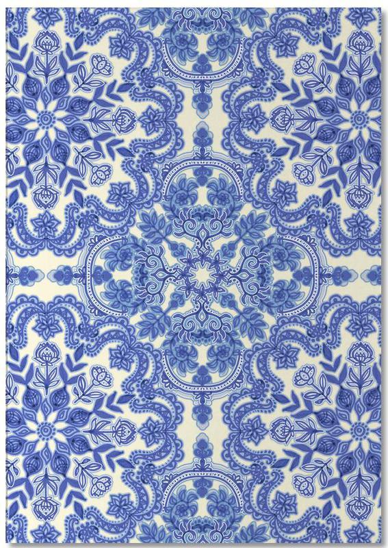 Blue & White Folk Art Pattern Notepad