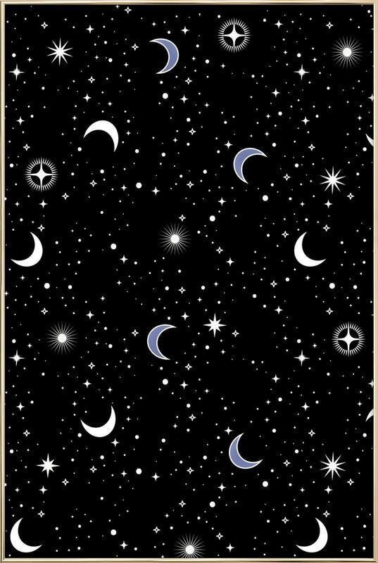 Stars Holiday -Poster im Alurahmen