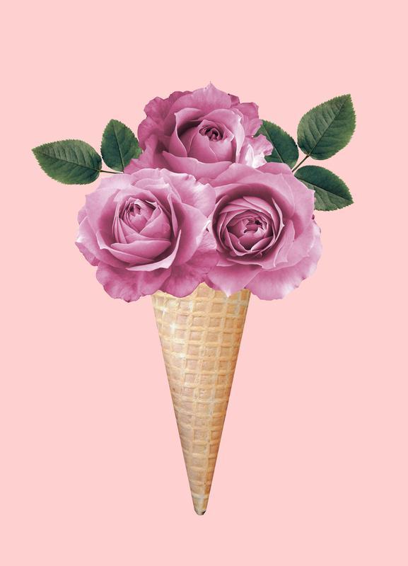 Floral Ice Cream -Leinwandbild