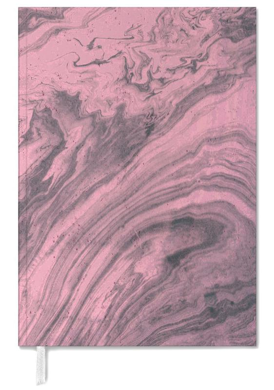 Pink Marbled Texture Personal Planner