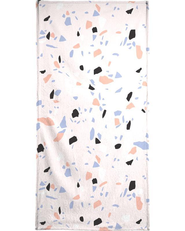 Sweet Terrazzo Texture Beach Towel