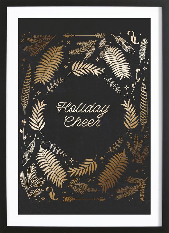Holiday Cheer -Bild mit Holzrahmen